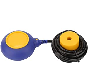 143 Float Switch, 220V Float Switch Water Liquid Level Controller Contactor Sensor with 3 Meters Cable 70℃ Resistance for Shipbuilding, Food and Petrochemical,