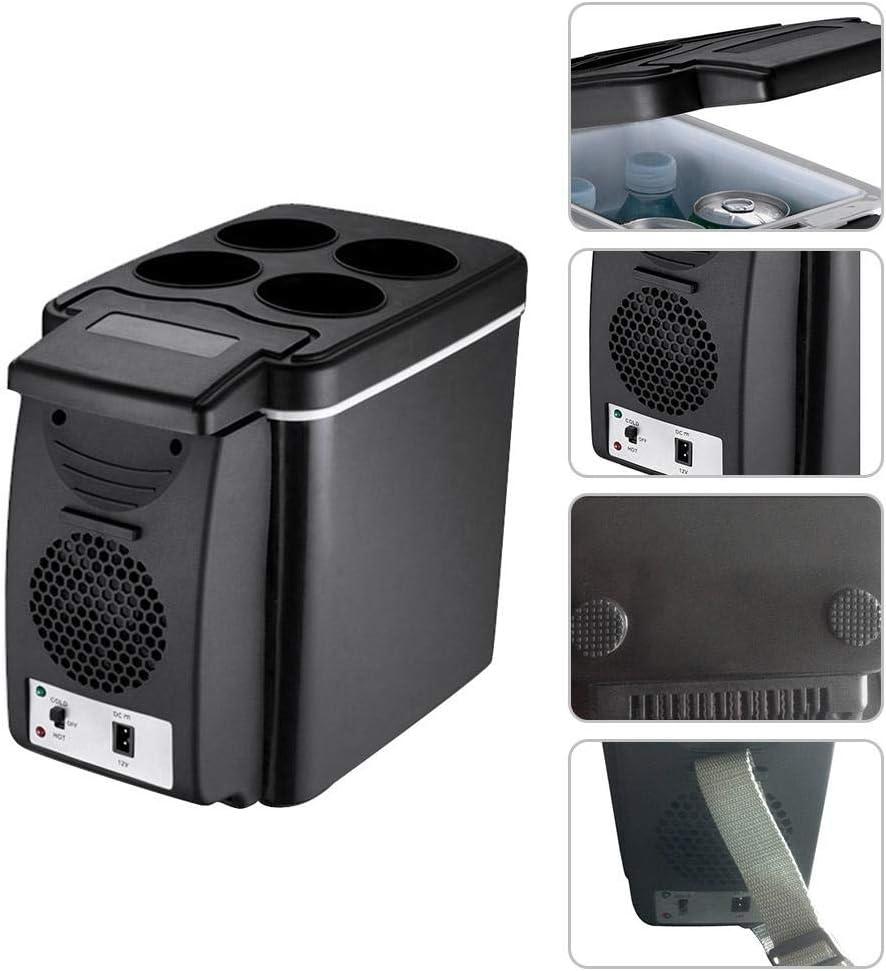 iYoung K/ühlbox Auto Hot Cold Tragbare Elektrische K/ühlbox Auto Mini K/ühlschrank Leichte Isolierte K/ühlbox Container Camping coolbox 6L 12 V