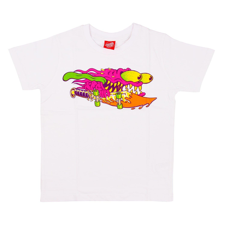 santa_cruz T-Shirt Slasher Colour Bianco Formato: 152-164 cm di Altezza - 12 a 14 Anni 3SF17214-WHT