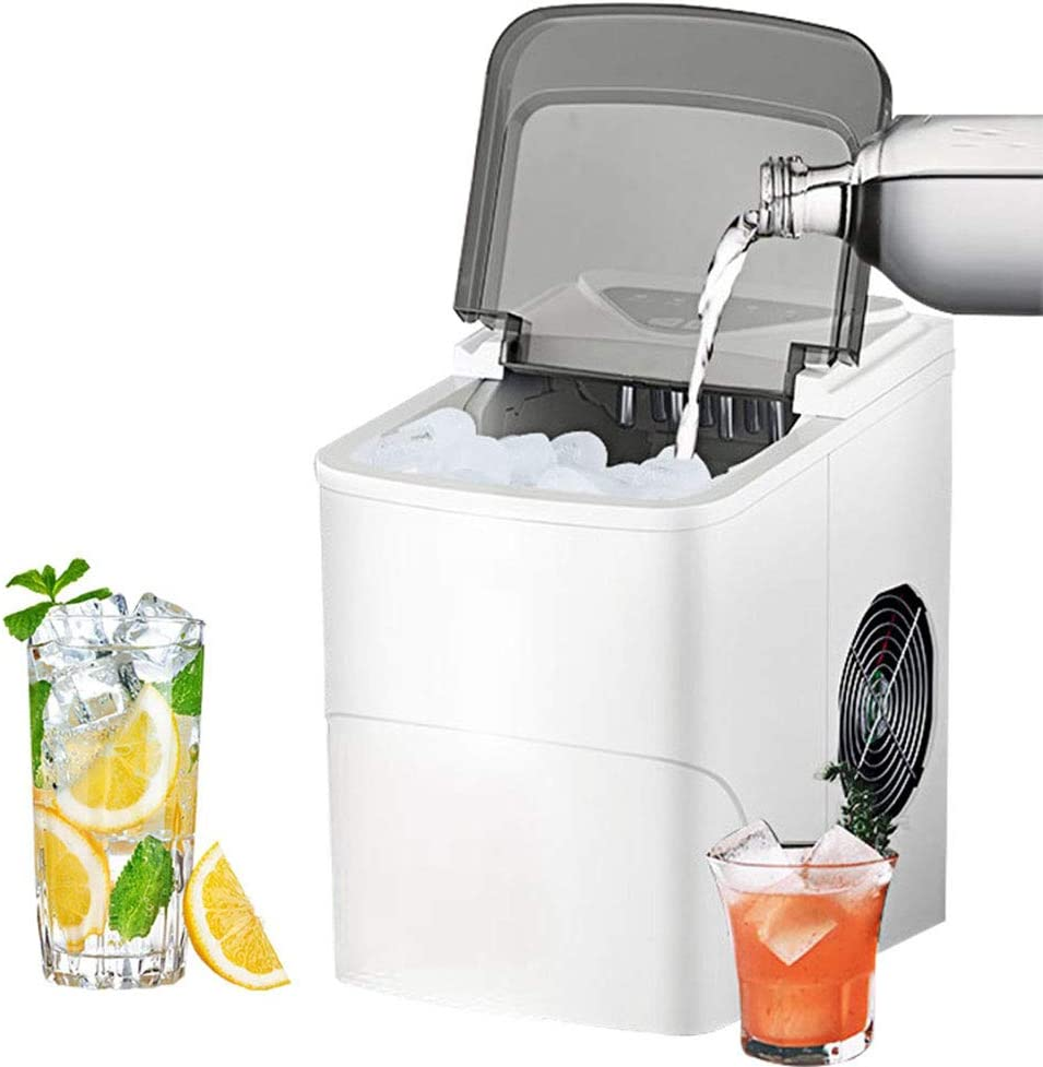 FASFSAF Ice Making Machine, Automatic Household Portable Electric Bullet Round Ice Making Machine 15Kg/24H Coffee Bar Teamilk Shop