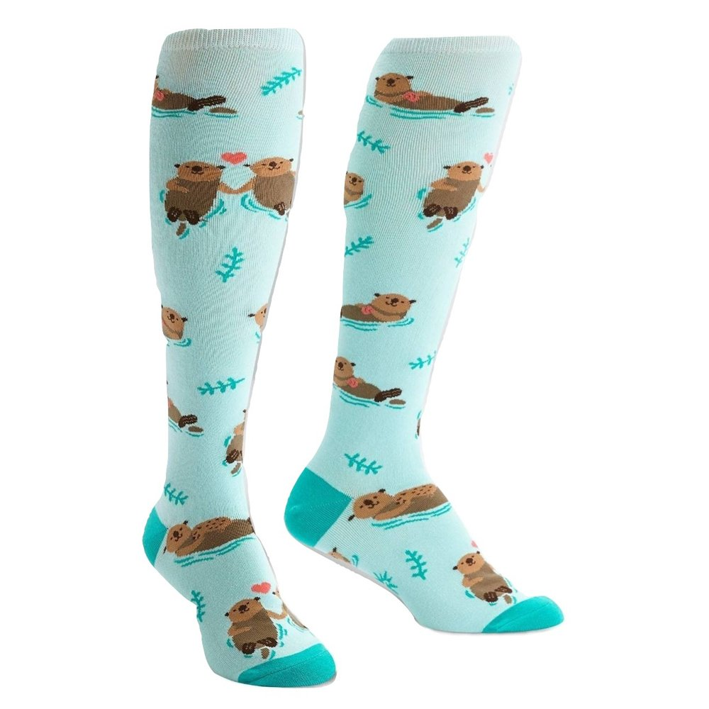 Sock It To Me Otter Half Women's Knee High Socks F0375