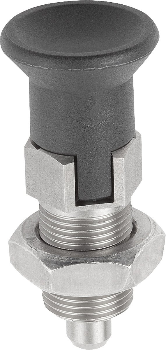 k0338.14206 D Shaped Toggle 2/Locking Bolts M12x1,5/Thermoplastic Complete: Stainless Steel 1/Piece Diameter 6/mm