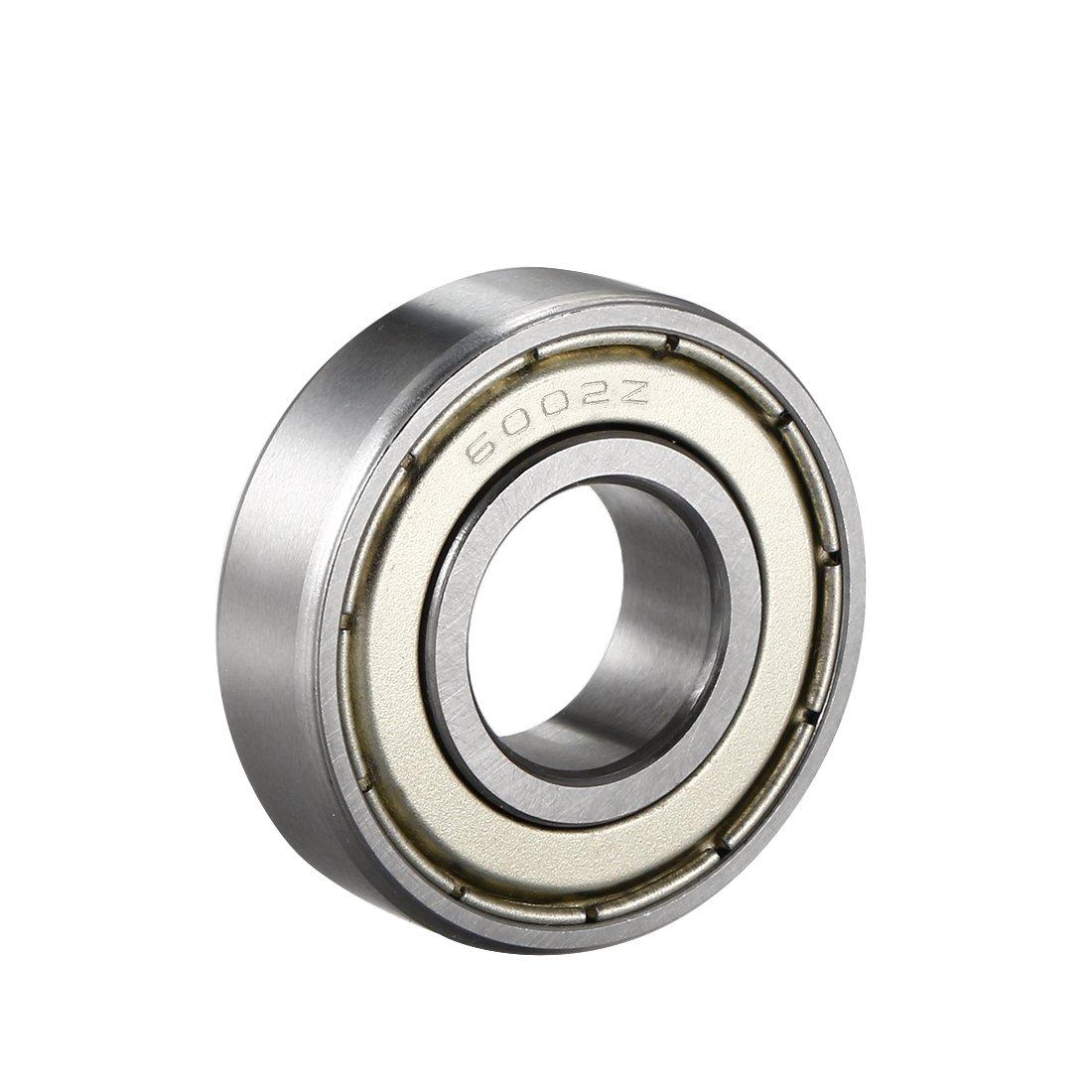 sourcingmap 6002Z Deep Groove Ball Bearing Single Shield 60102, 15mm x 32mm x 9mm Chrome Steel Bearings (Pack of 1) a18051100ux0038