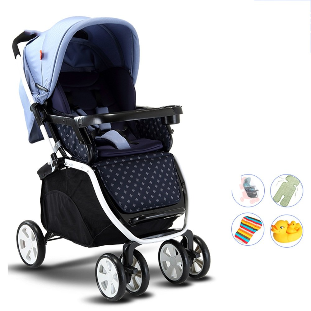 LVZAIXI 赤ちゃんのベビーカー、軽量折りたたみ四輪車、サスペンション、座ることができ、嘘つき、半ライクラコットンの日よけ ( 色 : A2 ) B07C743473 A2 A2