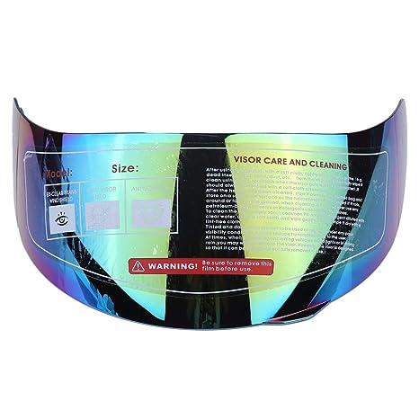 KIMISS Lente del visor del casco de la motocicleta Reemplazo del parabrisas para 316 902 AGV K5 K3SV(Coloreado)