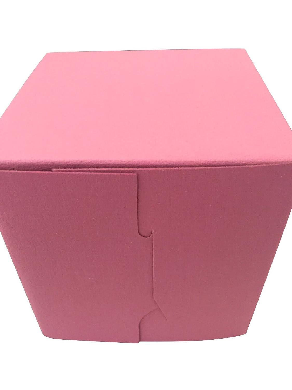 30 Made in USA Southern Champion Tray Pink Bakery Single Cupcake Box 4 X 4 X 4 inch