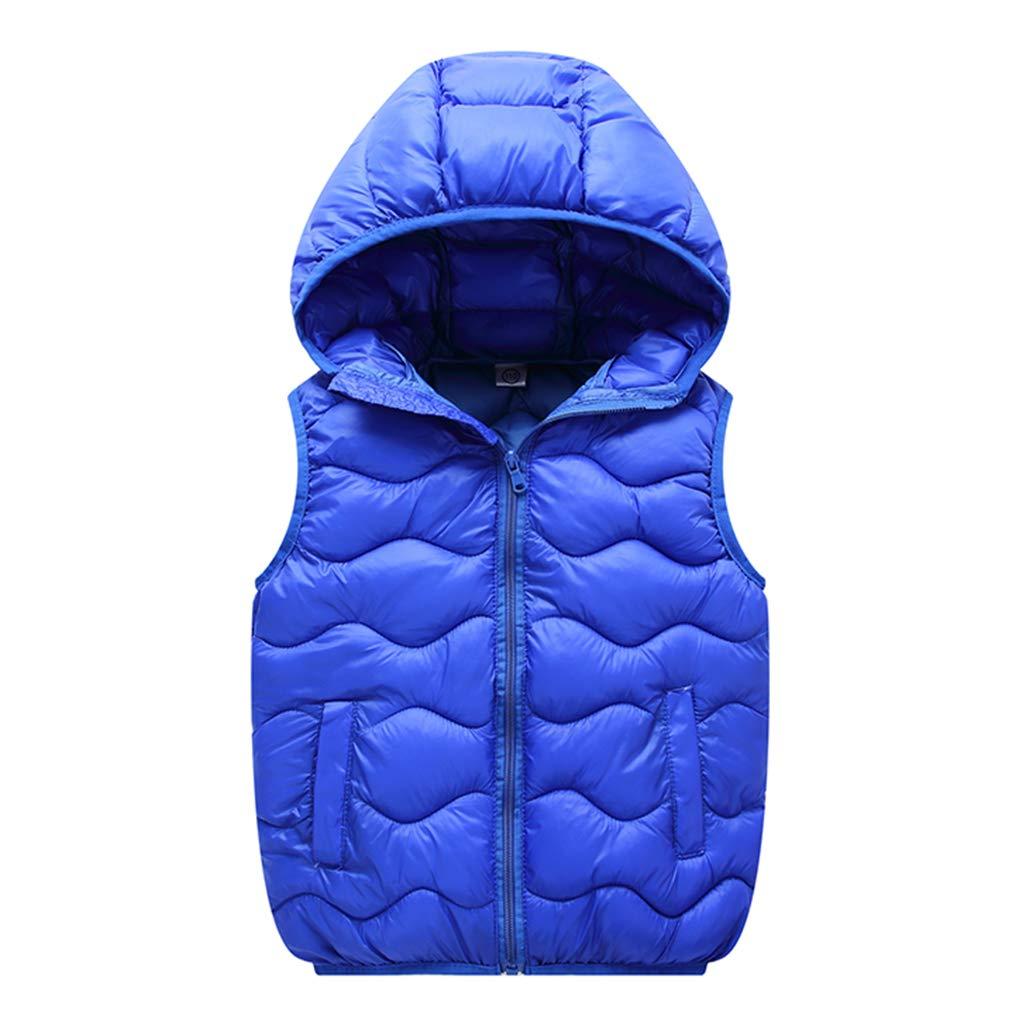 Bambini Piumino Gilet Inverno Cappotto Con cappuccio Ultraleggero Senza Maniche 2-3 Anni ShenzhenWindyTradingCo. Ltd