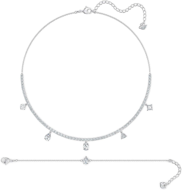 Amazon.com: SWAROVSKI Authentic Tennis Deluxe Necklace and ...
