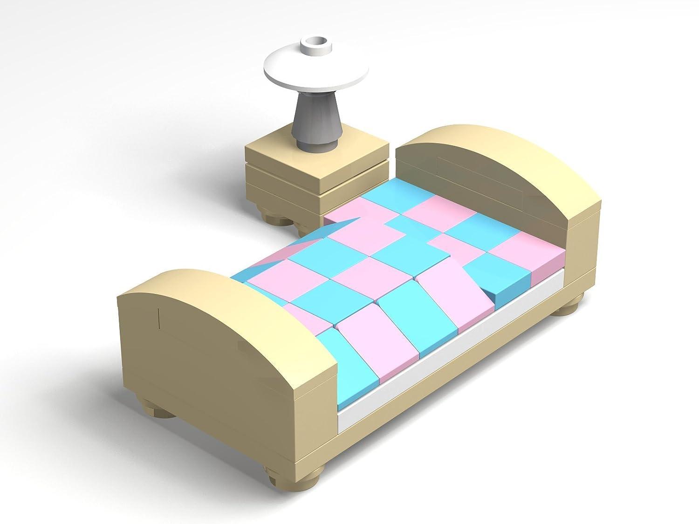 LEGO® Conjunto Cama y de Noche Mesa - La Complemento para la Mini ...