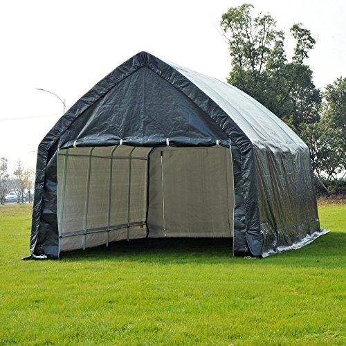 Heavy Duty Shelters : Outsunny  heavy duty enclosed vehicle shelter