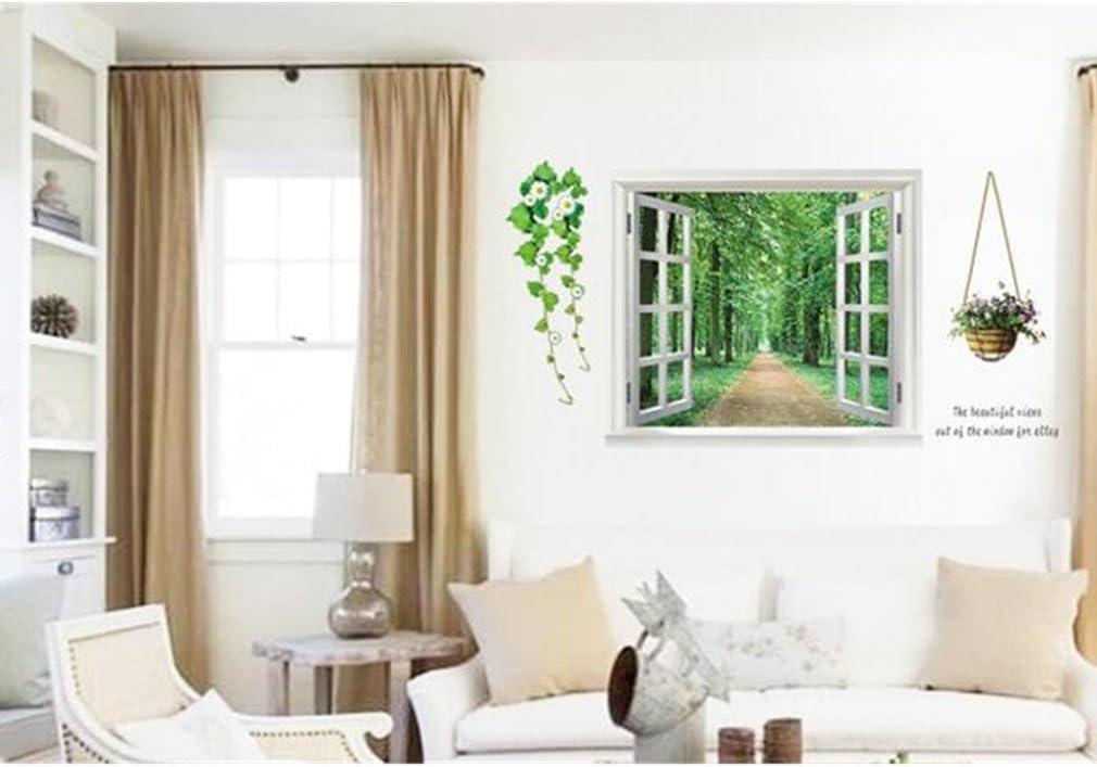 color morado de mariposas y flores Decoraci/ón del hogar pared vinilo adhesivo adhesivos arte mural