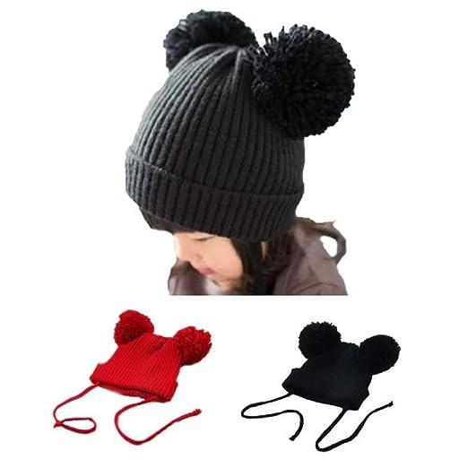 Amazon.com  Baby Woolen Caps c33a7ef202e