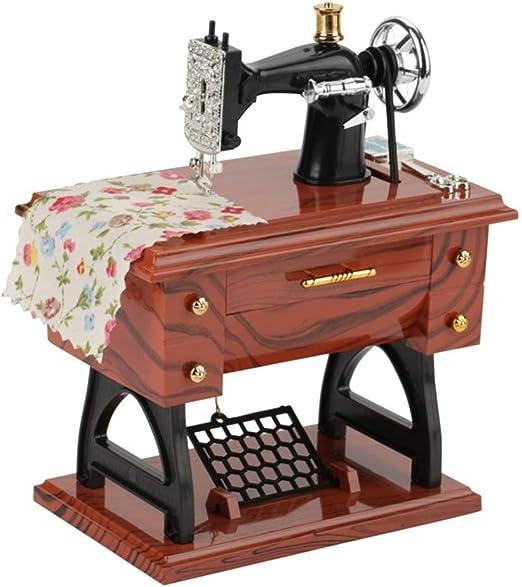 PowerBH Caja de música para máquina de Coser Musical Retro clásico clásico Escritorio: Amazon.es: Hogar