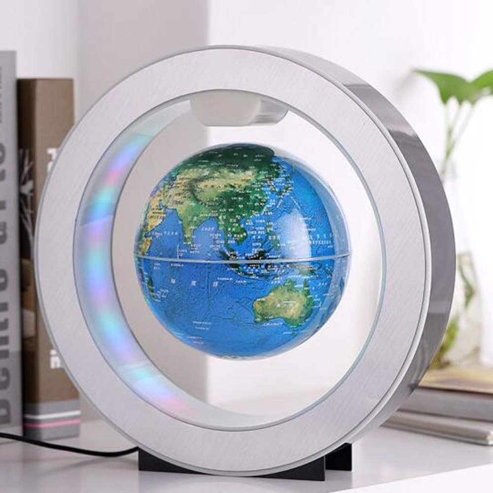 YANGHX Magnetic Levitation Floating World Map With Constellations LED Light Globe 2 in 1 Anti Gravity Suspending In The Air Decoration Gadget Children's GIFT ( Blue 6 inch ) by YANGHX (Image #9)