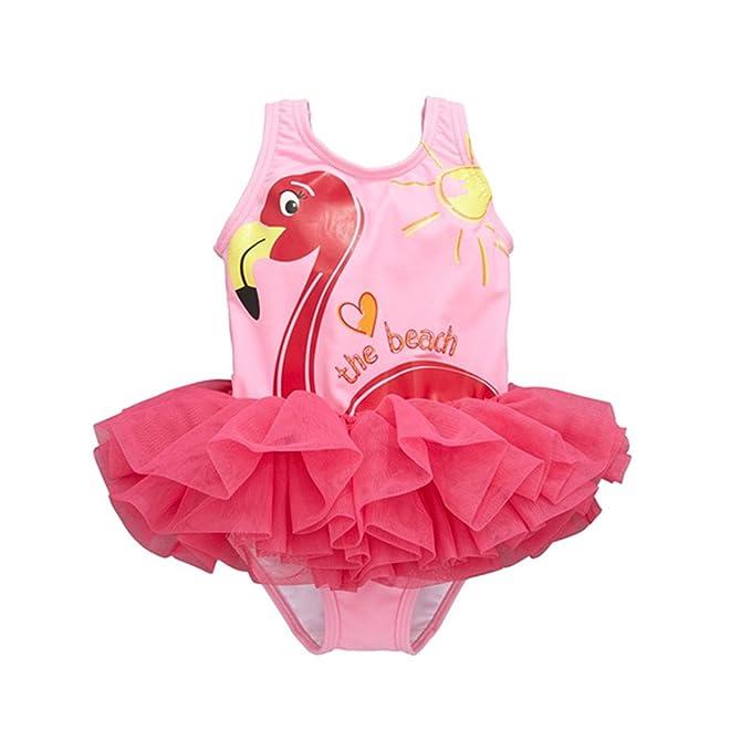 Amazon.com: taiycyxgan bebé niñas princesa traje de baño de ...