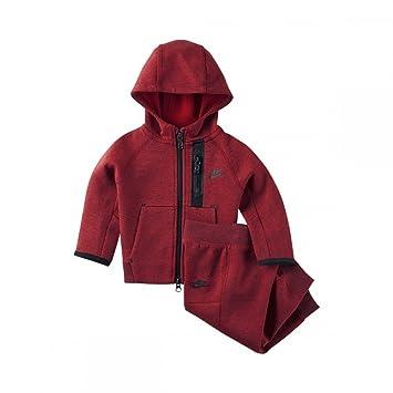 heiß-verkaufendes spätestes abwechslungsreiche neueste Designs kaufen Nike Tech Fleece Trainingsanzug, Rot, für Kinder von 3 – 6 ...