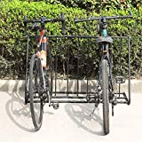 MyGift 6-Bicylce Capacity Steel Pipe Double-Sided