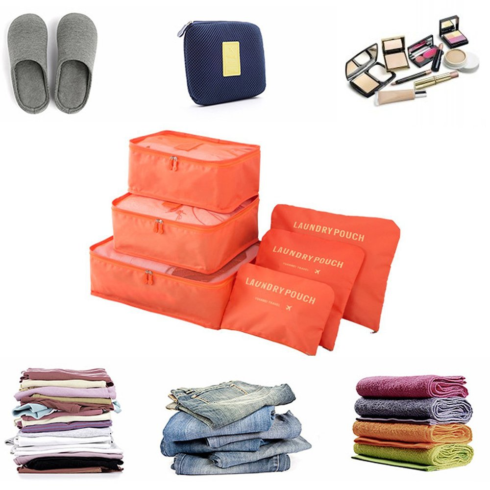 6 pieces of waterproof easy to carry luggage traveling storage bag by Asien (Image #2)