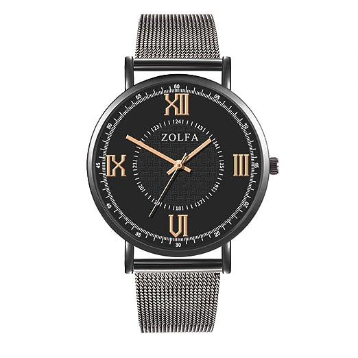 VEHOME Inteligentes Relojes de Lujo Reloj de Cuarzo Reloj de Acero Inoxidable con Brazalete Informal Relojes relojero Reloj reloje hombresRelojes de Pulsera ...