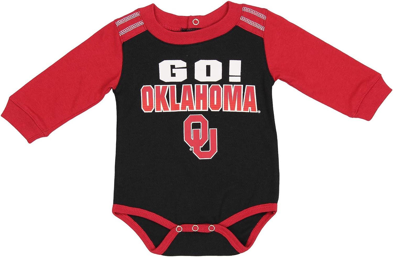 Outerstuff NCAA Newborn /& Infants Oklahoma Sooners Long Sleeve Creeper and Pants Set