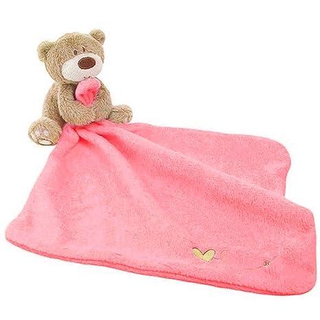Toalla de algodón suave para recién nacido, diseño de oso natural y ...