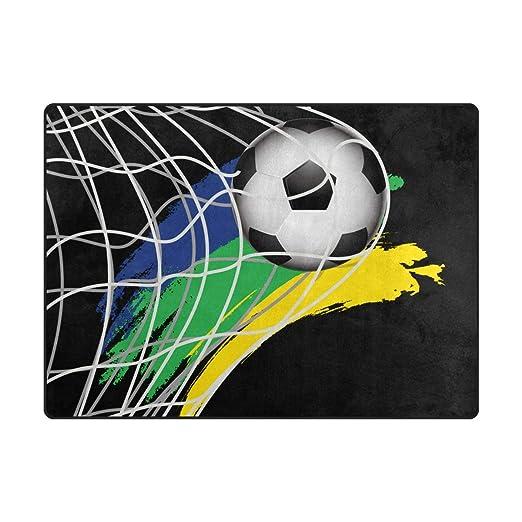 MONTOJ: Alfombra de balón de fútbol, diseño de Zapatos, Muy Suave ...