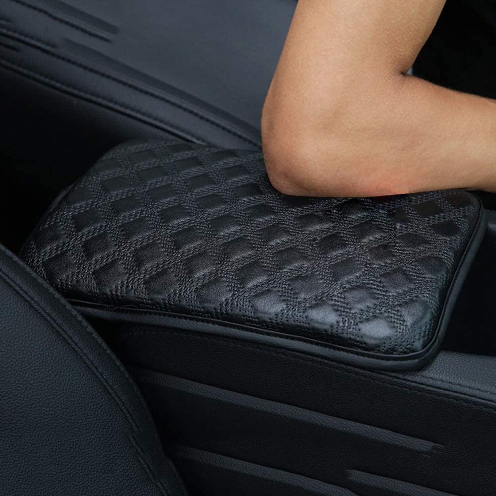 Waterproof Center Console Box Armrest Protector Perfect for Most Vehicle SUV Truck Car Accessories Universal PU Leather Auto Armrest Cushion Pads Auto Center Console Pad