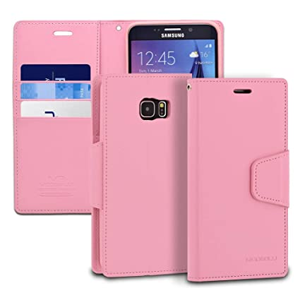 info for 6e6f1 480e6 Galaxy S6 Edge Plus Case, ModeBlu [Classic Diary Series] [Pink] Wallet Case  ID Credit Card Cash Slots Premium Synthetic Leather [Stand View] for ...