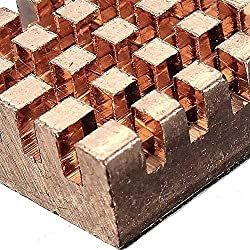 Nrthtri smt 15 Pcs Pure Copper Heat Sink Cooling Fin Fit for Raspberry Pi Board