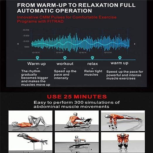 HIXGB Tóner Muscular Abdominal Portátil,Estimulador Muscular EMS con 6 Modos De Deportes / 9 Puntos Fuertes,Adecuado para La Oficina En El Hogar,Hombres ...