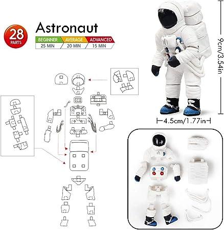 Lehoo Castle Bloque de Construcción del Espacial, 4-en-1 Juegos de Construcción Astronauta con Cohete Juguetes, Construcciones para Niños de 5 6 7 8 Años