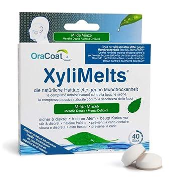OraCoat XyliMelts - 40 pastillas adhesivas contra caries y sequedad bucal - Menta suave: Amazon.es: Salud y cuidado personal
