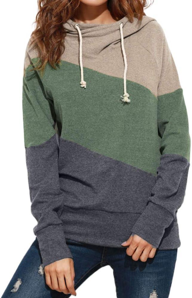 Mujer Sudadera, Invierno Patchwork Sudadera con Capucha Cortas para Mujer Camisetas Mujer Blusa Tops Sudadera Mujer: Amazon.es: Ropa y accesorios