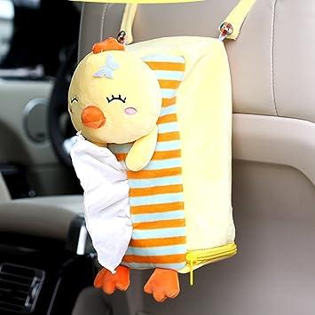 Bonito trasero para el asiento del coche cogeek de peluche para colgar caja de pañuelos accesorios
