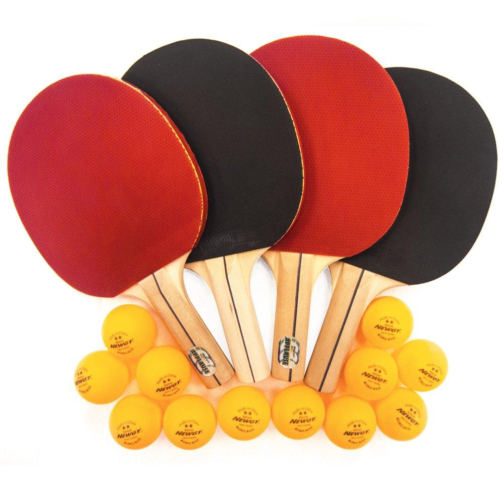 Newgy Ping-Pong Paddles (Set of 4)