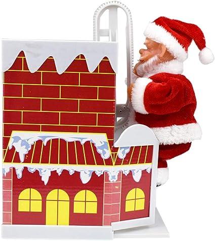 Forart Adorno de chimenea de escalada de Santa Claus Navidad ...