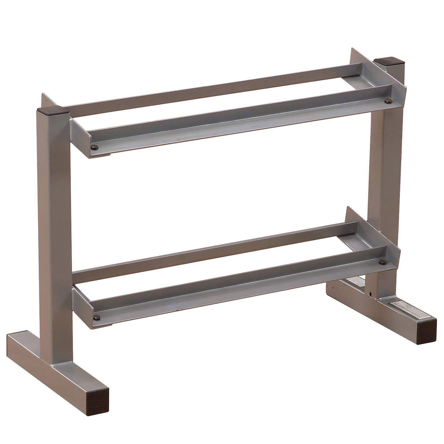 Body-Solid Powerline 2-Tier Horizontal Dumbbell Rack PDR282X