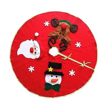 Die Weihnachtsgeschenke.Weihnachtsbaumdecke Luoem Baumrock Für Die Weihnachtsgeschenke Weihnachtsdeko 106cm Rot