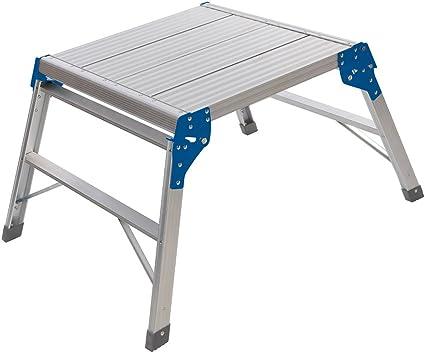 Silverline 600905 Plataforma cuadrada de aluminio, Plata: Amazon.es: Bricolaje y herramientas