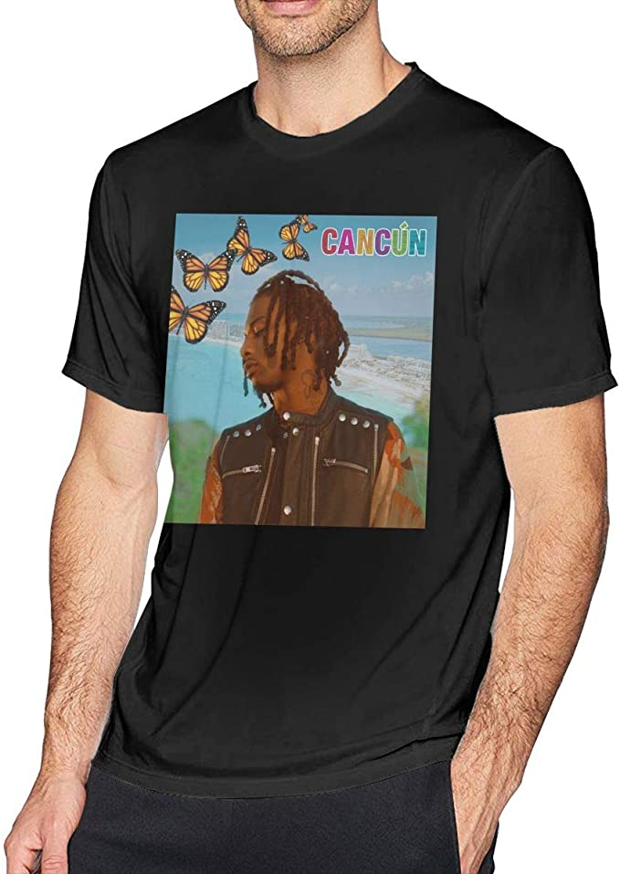 Amazon Com Robertrcastleberry Playboi Carti Cancun Men S T Shirt Round Neck Fashion Short Sleeve T Shirt S Home Kitchen