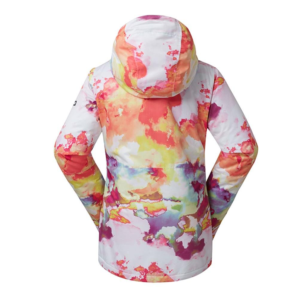 Women's High Breathable Waterproof and Windproof colorful Snowboard Printed Ski Jacket by RIUIYELE (Image #3)