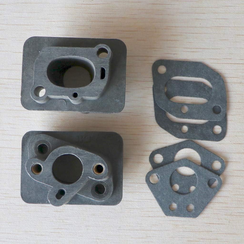 BIlinli 2 Piezas 40-5 43CC 52CC desbrozadora colector de admisi/ón Conector de Base del carburador Tubo de admisi/ón Adaptador de carbohidratos