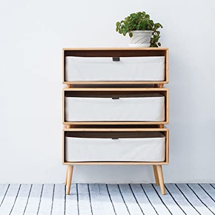 new product 4d678 f5db4 Amazon.com: ZEN'S BAMBOO Chest of Drawers Nightstand with ...