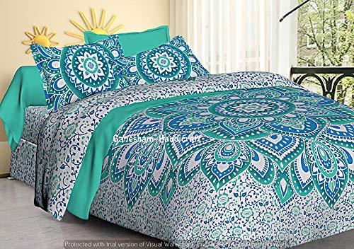 textile treasure Indian Home Decor Hippie Gypsy Cotton Bedding Boho Chic Comforter Set Quilt Cover Twin Cover Bed -