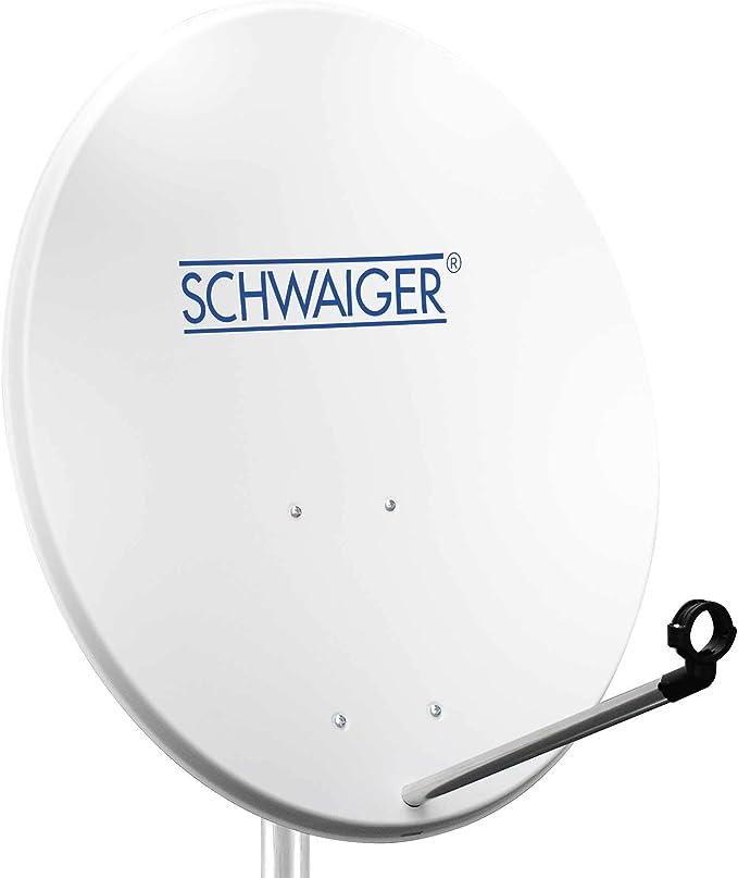 Schwaiger SPI992011 - Antena parabólica (80 cm), blanco