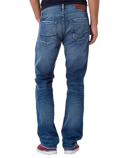 Cross Herren Jeans Antonio Relax Fit - Blau - Mid Blue Used Destroyed,  Größe:W 31 L 32;Farbe:Mid Blue Used Destroyed (061): Amazon.de: Bekleidung
