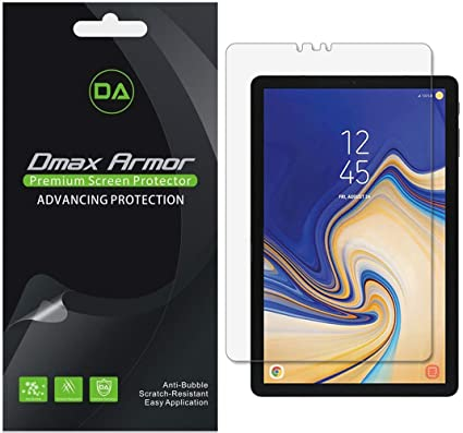 [3-Pack] Dmax Armor for Samsung Galaxy Tab S4 (10 5 inch) Screen Protector,  High Definition Clear Shield - Lifetime Replacement
