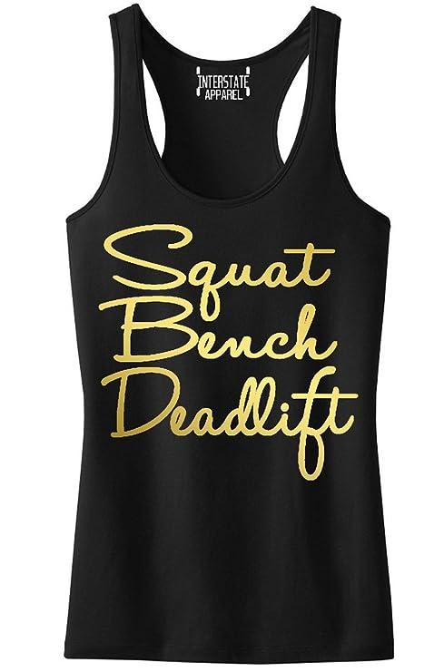 09b7d1bb95c9c Gold Squat Bench Deadlift Signature V252 Junior s Black Racerback Tank Top  T-Shirt Black at Amazon Women s Clothing store