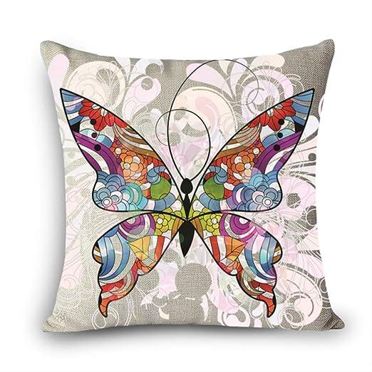 hzbxhcus Cojines Coloridos Mariposa Impresión, 45x45cm ...