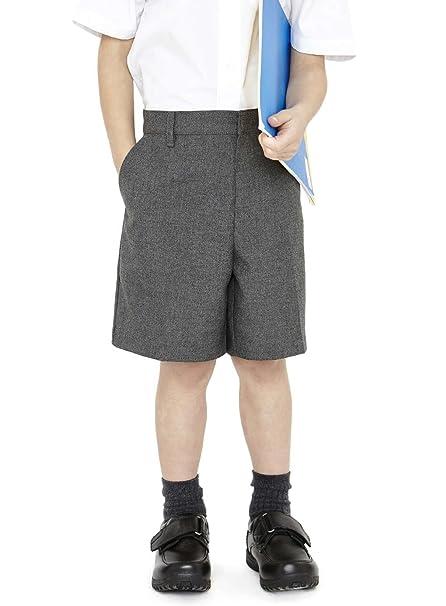 249d1dd4ef EX M&S Boys Smart School Uniform Long Shorts Trousers Age 2-12 Years Grey  Adjustable Waist